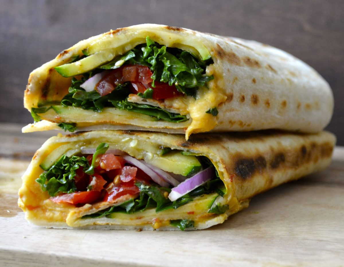 Grilled Zucchini Hummus Wrap + VIDEO