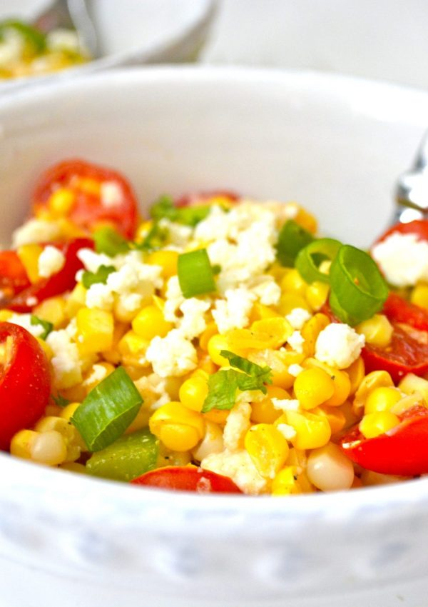 Sweet Corn Salad with Cherry Tomatoes and Lime