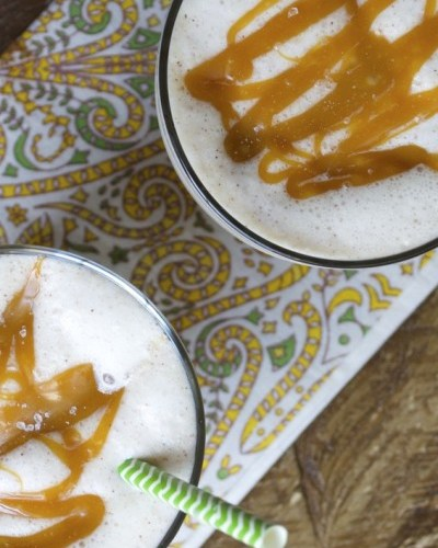 Salted Caramel Apple Cinnamon Smoothie