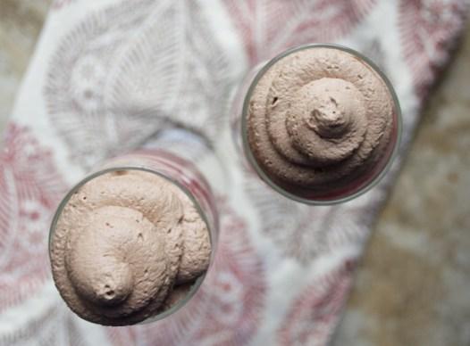 Raspberry Red Wine Slushy with Chocolate Whipped Cream...the ULTIMATE girls night drink!! www.maebells.com