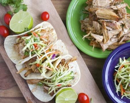 Jalapeño Ranch Slow Cooker Carnitas with Cilantro Lime Slaw