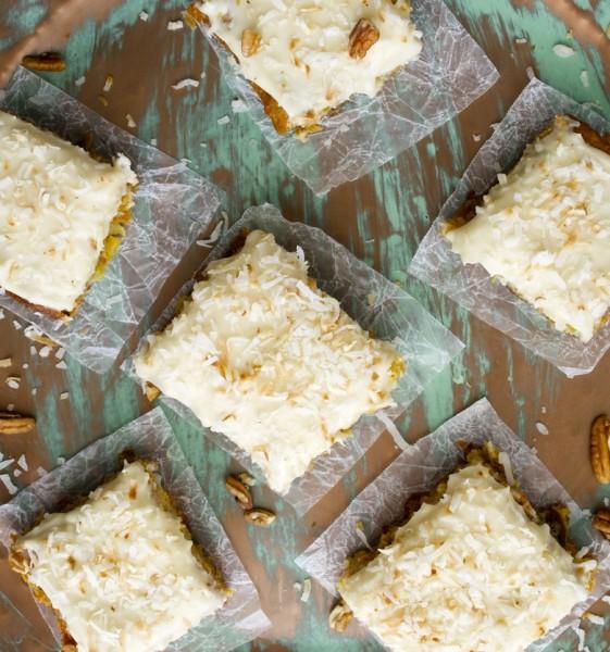 Carrot Cake Bars with Vanilla Cream Cheese Icing