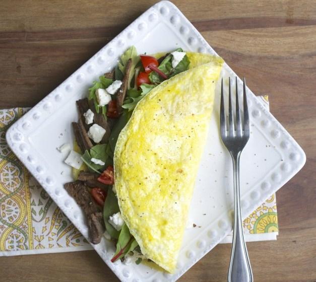 Steak & Feta Power Omelet