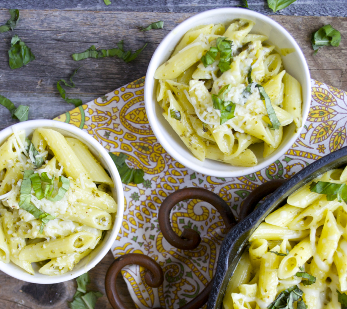 Creamy Pesto Penne, one pan and only 10 minutes!! gluten free!