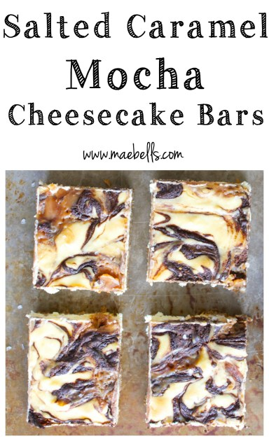 Salted Caramel Mocha Cheesecake Squares! Gluten free and SO decadent!