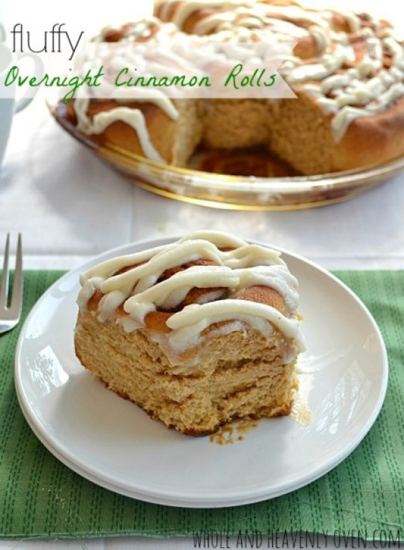 Fluffy Overnight Cinnamon Rolls from Whole and Heavenly Oven