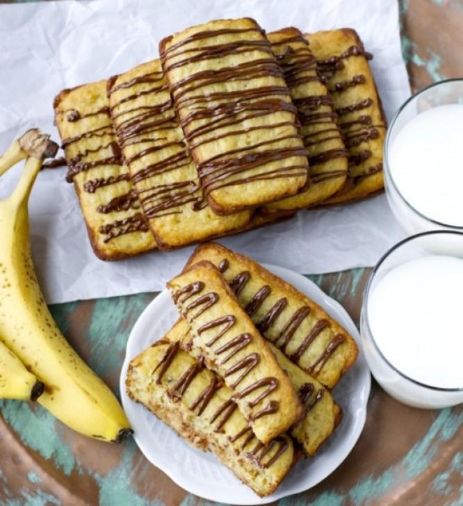 Gluten Free Banana Bread with Peanut Butter Cream
