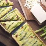 Asparagus and White Cheddar Quiche