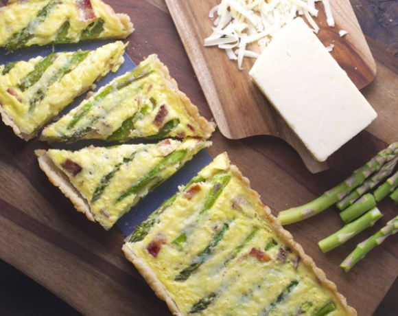 Asparagus and White Cheddar Quiche