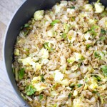 Crispy Brussels Sprout Fried Rice