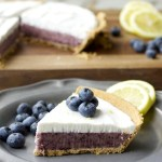 Blueberry Lemon Ice Cream Pie