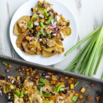 Jerk Shrimp and Spicy Sweet Potato Nachos