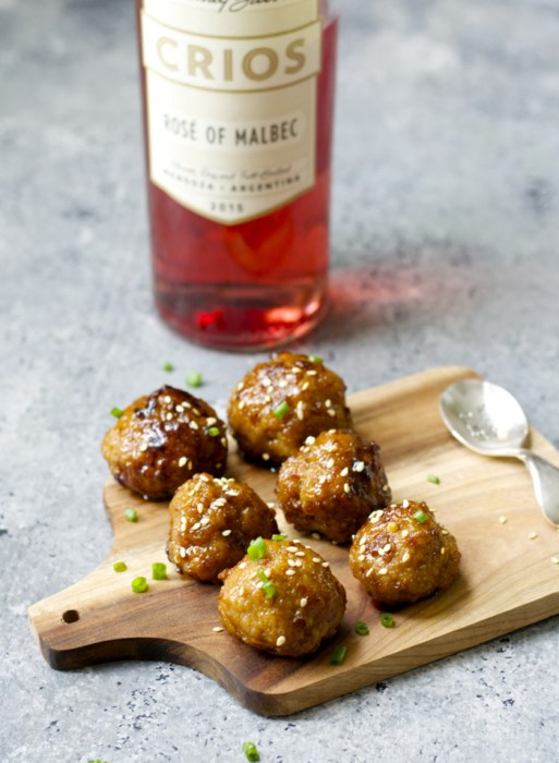 Spicy Asian Meatballs! These are great as an appetizer or quick dinner!