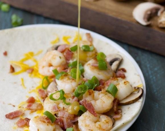Alice Springs Shrimp Quesadilla