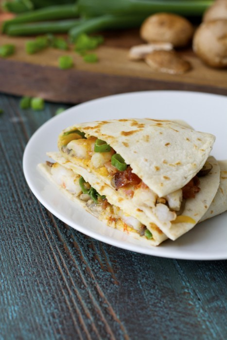 Alice Springs Shrimp Quesadilla! Ready in under 30 minutes!