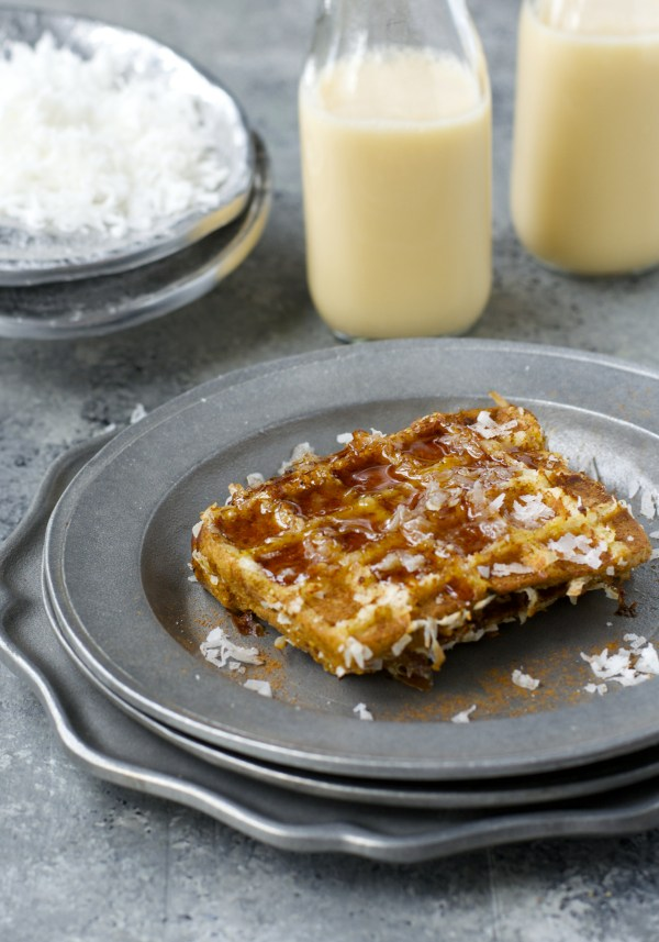 Coconut Crusted Eggnog French Toast! This is SO GOOD! Gluten and dairy free!