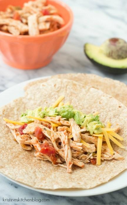 3 Ingredient Slow Cooker Chicken Tacos