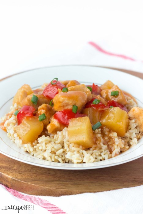 Slow Cooker Sweet and Sour Chicken from The Recipe Rebel