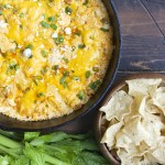 Blue Cheese Bacon Buffalo Chicken Dip