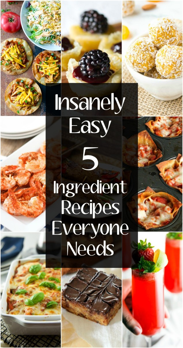 Insanely EASY 5 Ingredient recipes everyone needs! Sweet, savory, snacks and sides we've got everything you need!