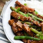 Sesame Pork and Green Beans + VIDEO