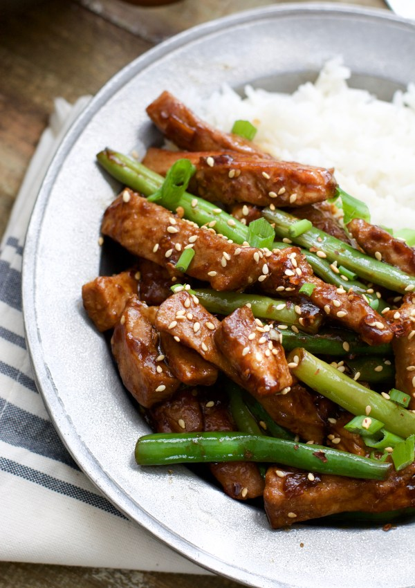 Sesame Pork and Green Beans + VIDEO (keto option)
