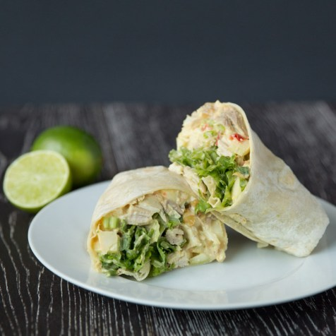 Curried Chicken Salad and Apple Wraps