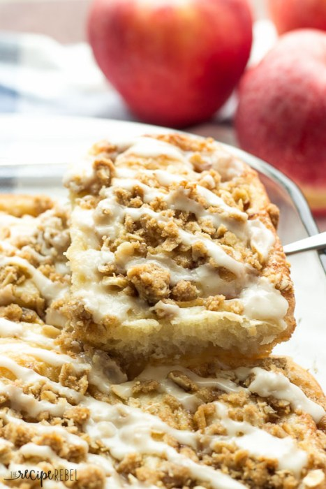 Maple Glazed Apple Crisp Cinnamon Buns
