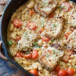 Garlic Herb Pork Medallions with Tuscan White Beans