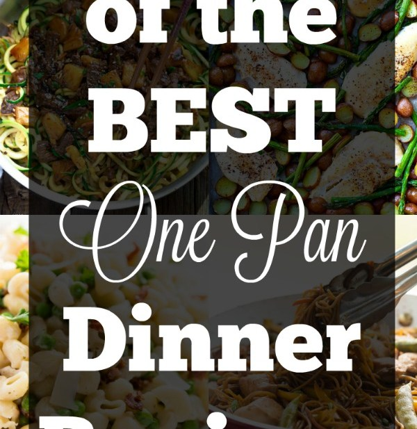 21 of the BEST One Pan Dinner Recipes!! We have gluten free, vegetarian, healthy and indulgent dinner ideas! These one pan dinner ideas are perfect for busy nights!