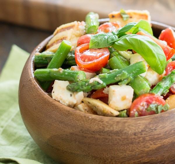 Asparagus and Tomato Panzanella Salad