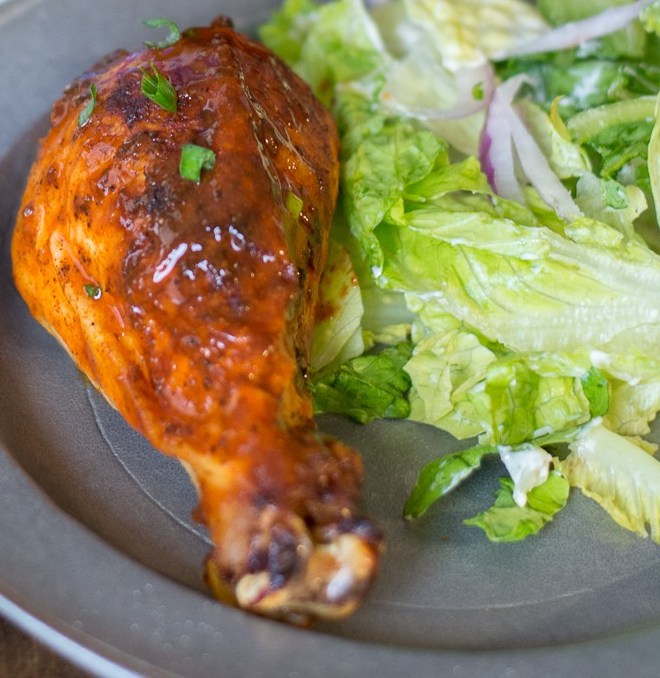 This Buffalo Roast Chicken is packed with flavor and makes an easy and delicious dinner! Try this spicy twist on a classic!