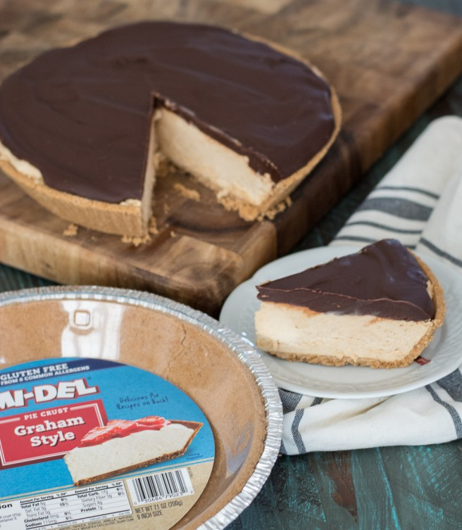 Creamy Peanut Butter Filling is topped with Dark Chocolate Ganache for the perfect easy and gluten free Peanut Butter Cup Pie