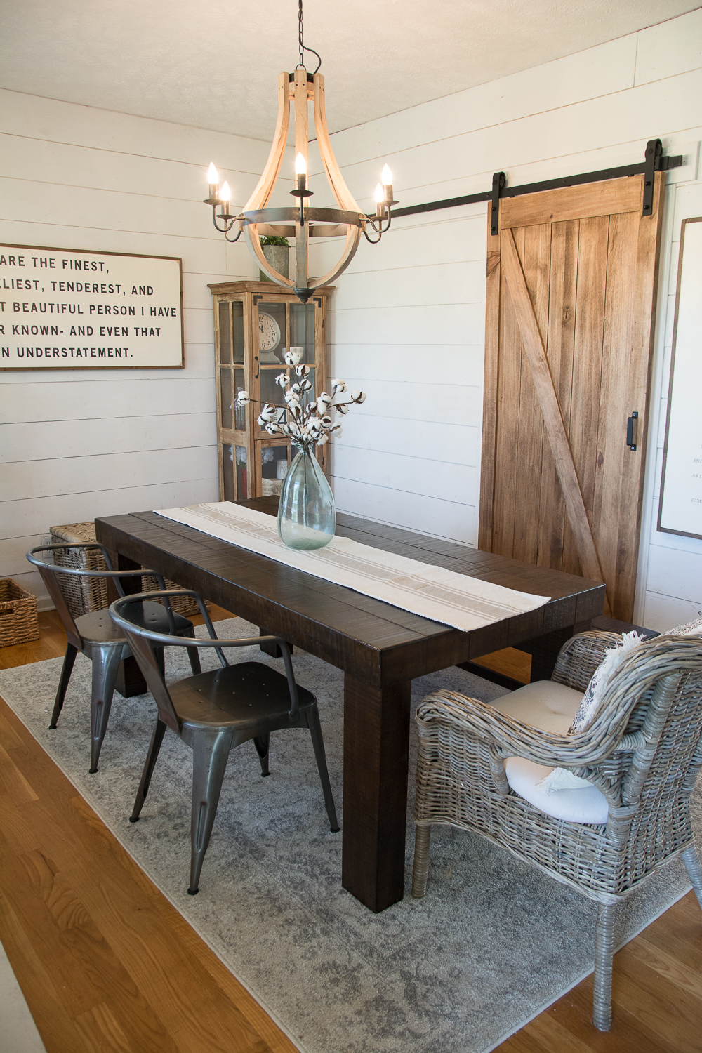 How to create an easy and affordable farmhouse style dining room!