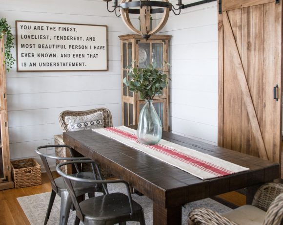 DIY Farmhouse Dining Room