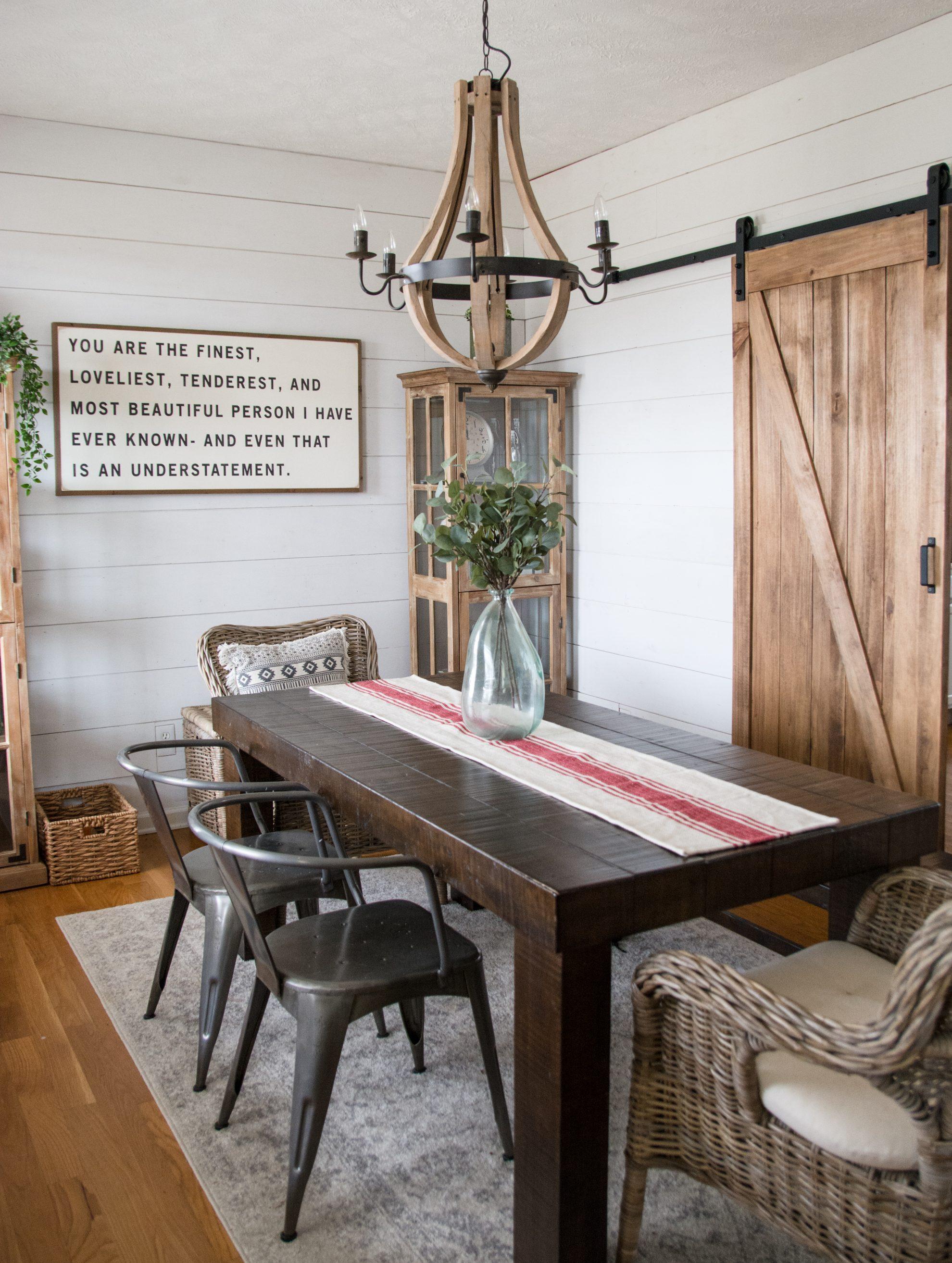 An Affordable DIY Farmhouse Dining Room! How We Turned An Ordinary House  Into A Stylish Farmhouse On A Budget!