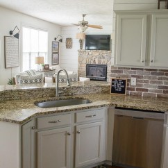 Brick Backsplash In Kitchen Drawer Liners Easy Diy Maebells Update Your With An This Affordable Project Is Perfect For