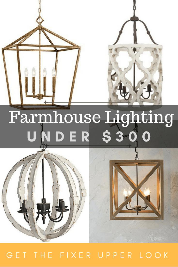 farmhouse lighting under 300 maebells