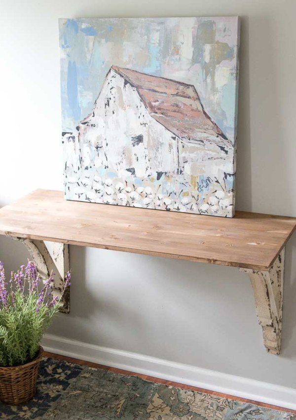 Easy DIY Corbel Table