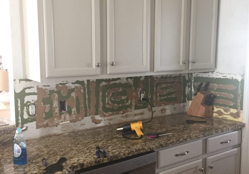 How to Remove a Glued on Backsplash