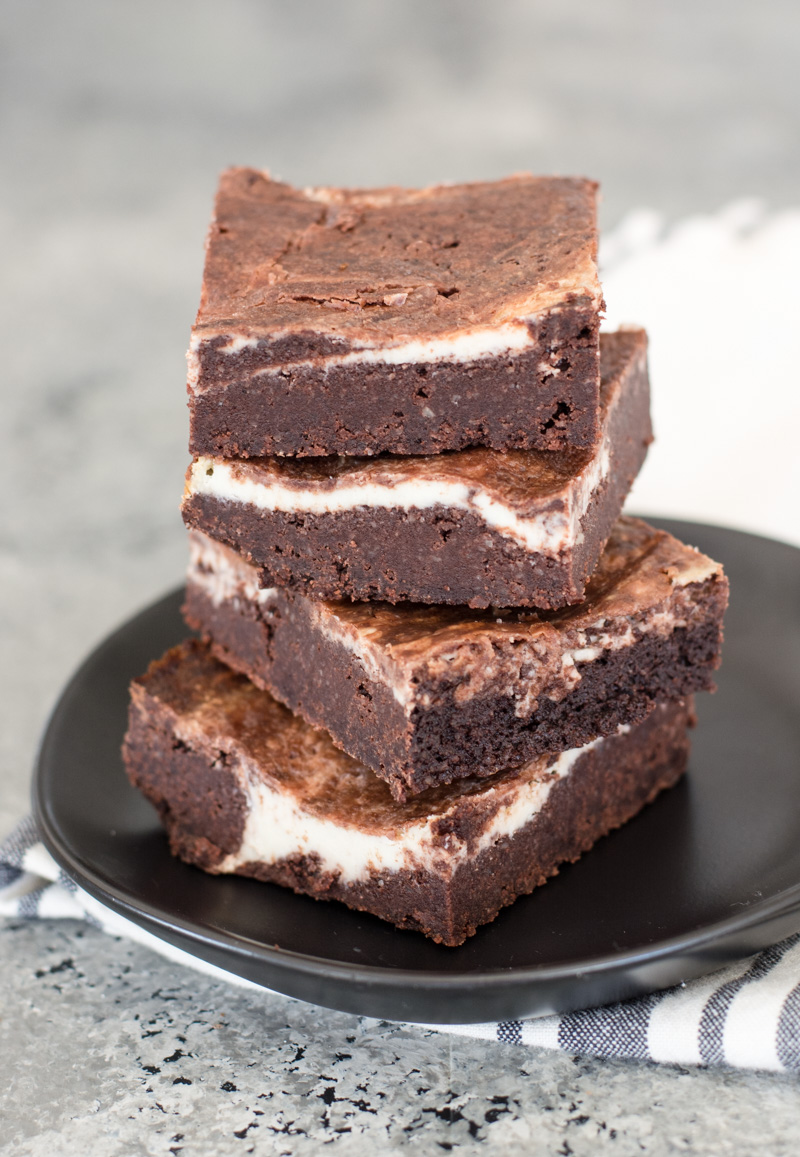 Fudgy Keto Cheesecake Brownies with a thick cheesecake swirl! An easy Keto dessert!  #keto #gluten free