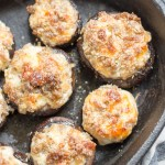 Keto Sausage Stuffed Mushrooms