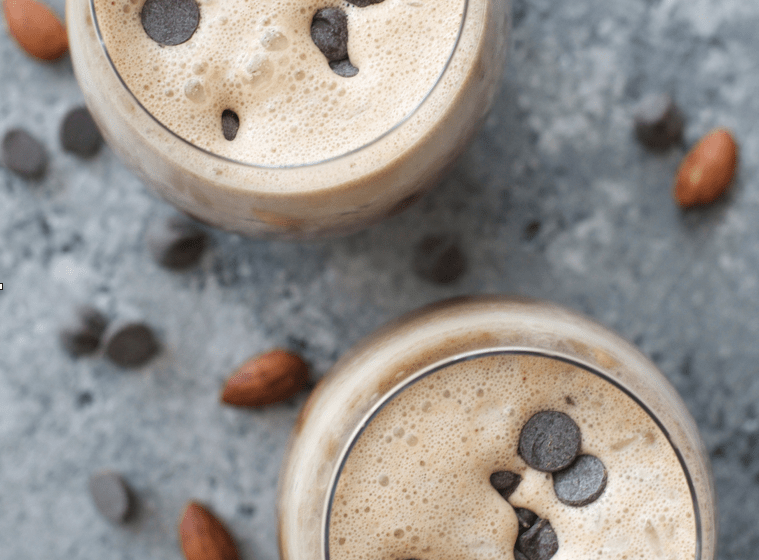 Easy Almond Butter Frappuccinos! Only 3 net carbs the perfect #keto frappuccino!
