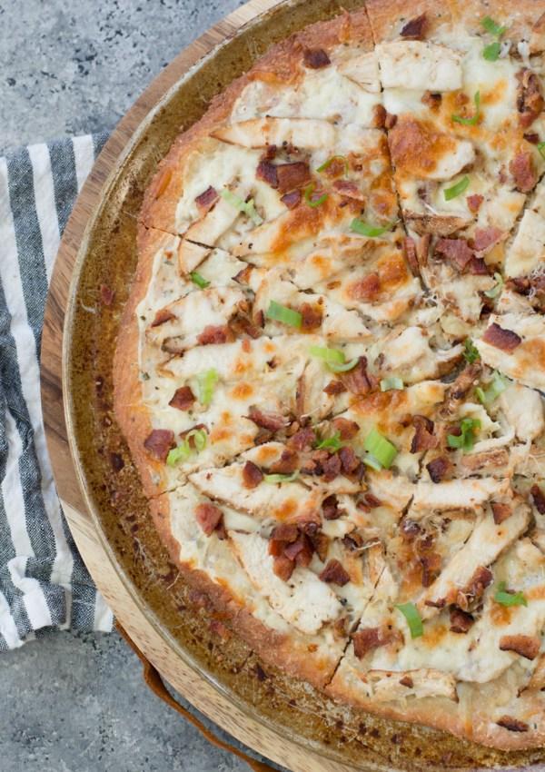 Keto Chicken Bacon Ranch Pizza