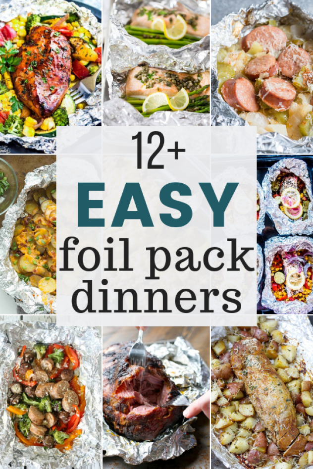 12+ Easy Foil Pack recipes perfect for summer entertaining! What is better than an easy dinner with basically no clean up! #grilling