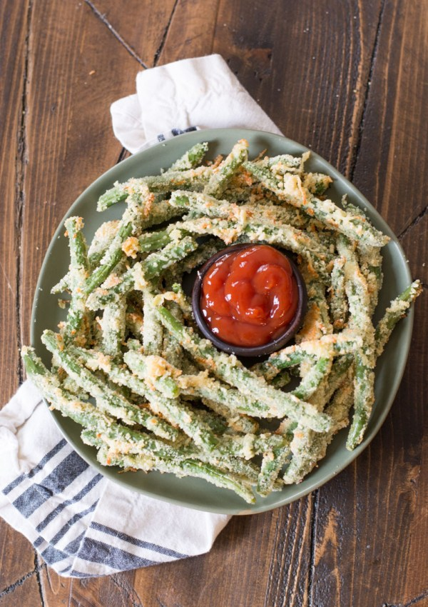 Air Fryer Green Bean Fries (keto + low carb)