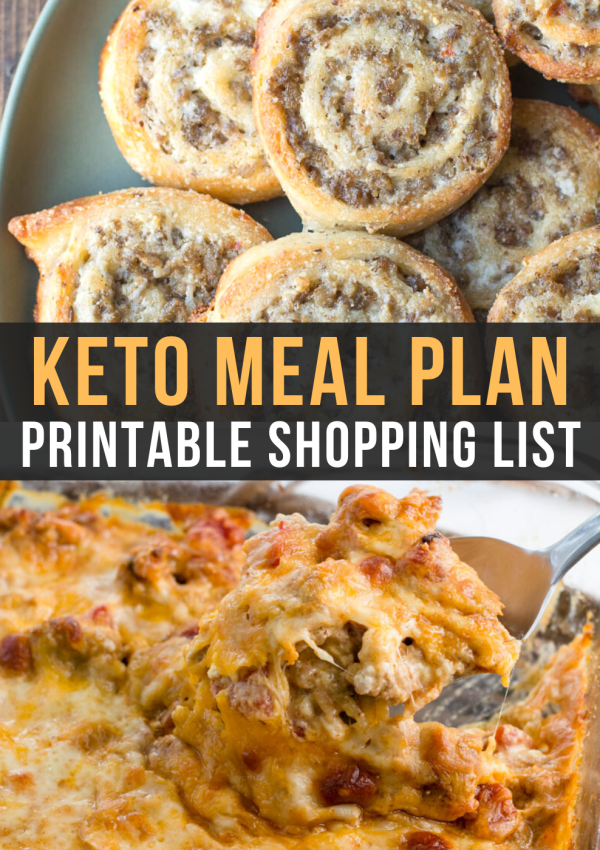 Easy Keto Meal Plan with Shopping List (Week 3)