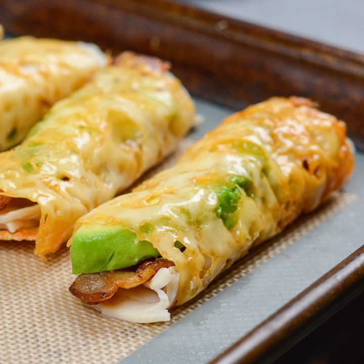 Turkey, Bacon and Avocado Taquitos