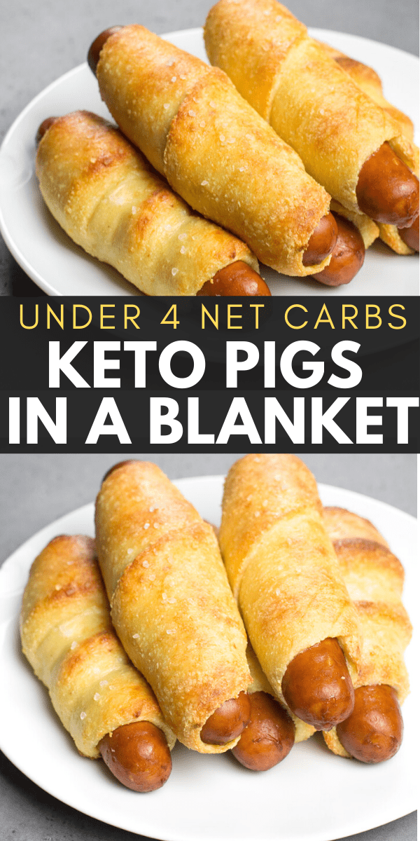 Easy Keto Pigs in a Blanket are the perfect low carb kid friendly dinner under 4 net carbs each!