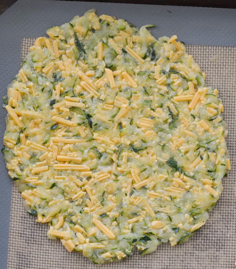process shot showing how to make zucchini tortillas